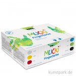 MUCKI Fingerfarben Set - 6 x 150 ml