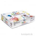 MUCKI Fingerfarbenset - Wir malen mit Händen und Fingern, 5 x 50 ml, Zubehör