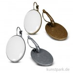 Ohrring Vintage Collection - Oval, 1,8x2,5 cm mit Cabochon