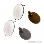 Ohrstecker Vintage Collection - Oval, 1,8 x 2,5 cm