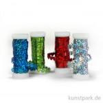 Paillettenbänder-Set, 4x3m - farbig sortiert