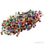 Paillettenmischung - Rund, leuchtende Farben, 6 mm, 10 g sortiert