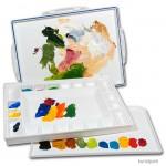 Palettenbox PALETTI 2 für Acrylfarbe, Farbe ablösbar