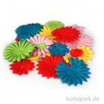 Papierblumen, 20-55mm, 30 Stück, farbig sortiert