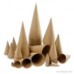 Pappkegel - Sortiment Rund, Größe 4-20 cm, 50 Stück sortiert