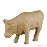 Pappmaché - Kuh, handgemacht, Höhe 15 cm