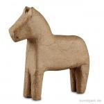 Pappmaché - Pferd, handgemacht, Höhe 14 cm