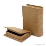 Pappschachtel - Buch, handgearbeitet, 2 Stück sortiert