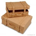 Pappschachtel-Set - Koffer klein, handgearbeitet, 2 Stück sortiert