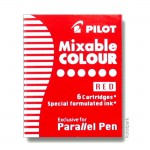 Pilot Pen Patronen 6 Stk - Rot