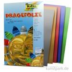 Prägefolienmappe 18,5x29,5cm, 5 Blatt - farbig sortiert