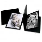 PRAT Leporello CLASSIC aus schwarzem Fotokarton