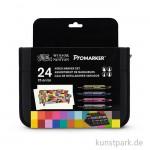 ProMarker - Winsor & Newton 24er Mixed Marker Set im Wallet
