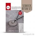 Rayher Schmuckbeton-Set Kette rund mit Zubehör