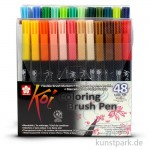 Sakura KOI Coloring Brush Pen Set - 48 verschiedene Farben