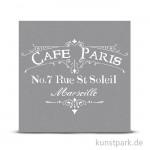 Schablone 30,5x30,5 cm - Café Paris