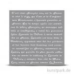 Schablone 30,5x30,5 cm - Französische Schrift