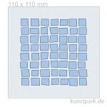 Schablone - Irre Quadrate, Größe 110x110 mm