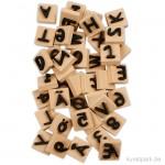 Schaumstoff-Stempel - Buchstaben & Zahlen, 3x3 cm, 41 Stück sortiert