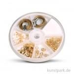 Schmuck-Starter-Set mit umfangreichem Zubehör - gold
