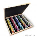 Sennelier Aquarell extra fein - Holzkasten mit 98 Farben und Pinsel