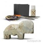 Speckstein Set - Elefant mit Zubehör