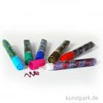 Spiral Glitter-Glue, 6 x 10,5 ml, farbig sortiert