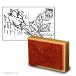 Stempel - Liebesbrief mit Rose - 9x13 cm