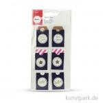 Sticker Tags - For you - Kraft, 3,2 x 5,3 cm, 6 Stück sortiert