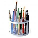 Stifte und Pinselhalter aus Kunststoff, rund mit 49 Fächern