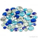 Strasssteine - blaue Kreise, 360 Stück