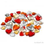 Strasssteine - rote Herzen, 252 Stück