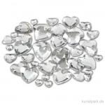Strasssteine - silberne Herzen, 252 Stück