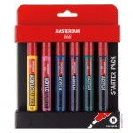 AMSTERDAM Acrylic Marker - Basic Set 6x4 mm