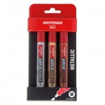 AMSTERDAM Acrylic Marker - Metallic Set 3x4 mm