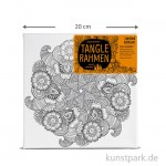 Tangle Rahmen Blütenrad 20x20 cm