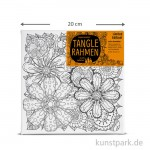 Tangle Rahmen Blumenteppich 20x20 cm