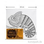 Tangle Rahmen Chamäleon 20x20 cm