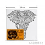 Tangle Rahmen Elefant Afrika 20x20 cm
