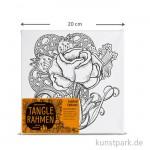 Tangle Rahmen Rose 20x20 cm