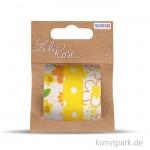 Textilbänder selbstklebend - Set Gelb 1, 3x1 m