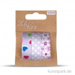 Textilbänder selbstklebend - Set Lila 2, 3x1 m