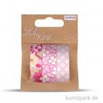 Textilbänder selbstklebend - Set Rosa 1, 3x1 m
