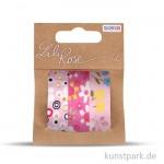 Textilbänder selbstklebend - Set Rosa 2, 3x1 m