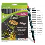 Tombow Brush Pen - Set 12 Grautöne