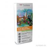 Tombow Brush Pen - Set 12 Pastellfarben