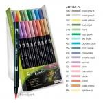 Tombow Brush Pen - Set 18 Pastellfarben