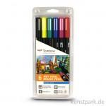 Tombow Brush Pen - Set 6 Grundfarben