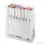 TOUCH BRUSH Marker Set 24er - Ausgewählte Farben