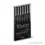 TOUCH Liner Brush Set mit 7 verschiedenen Farben
